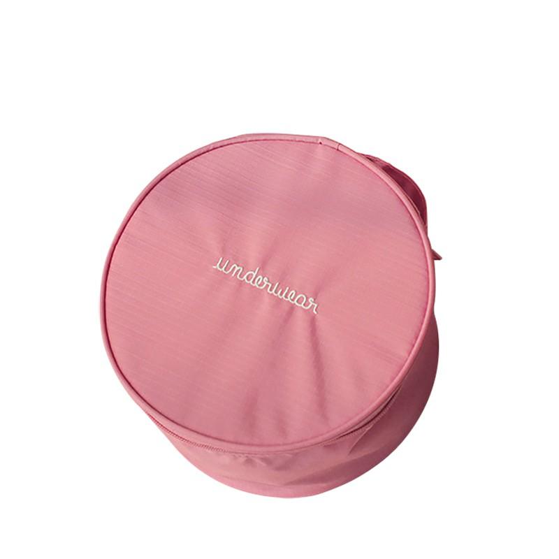 [即刻寄] 韓版收納包 潮流手提包 多功能旅行圓桶包 創意圓形手提包 文胸内衣收納包【SB0114】