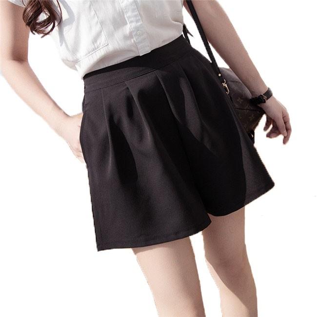 S-5XL短褲 夏季韓版新款大尺碼休閑短褲 百搭寬鬆顯瘦短褲 黑色學生顯瘦女生短褲褲子