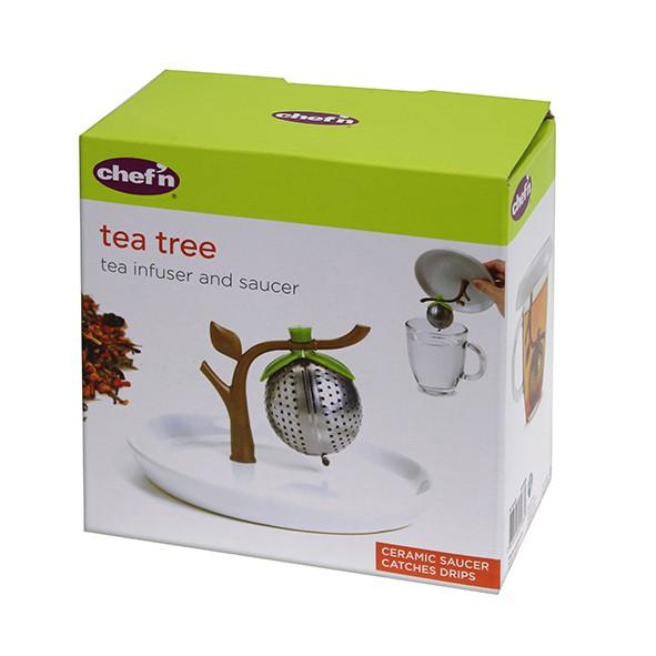 chef'n 茶樹造型濾茶杯蓋組