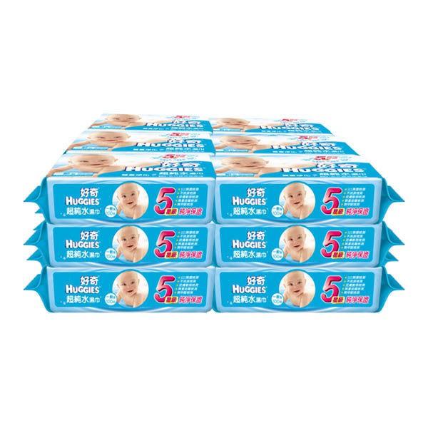 好奇純水嬰兒濕巾一般型100抽X18包箱購