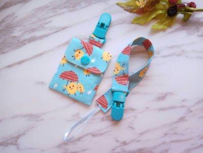 《茉莉媽咪手作館》寶寶手工平安符袋/(美國棉布)/奶嘴鍊需另外購買