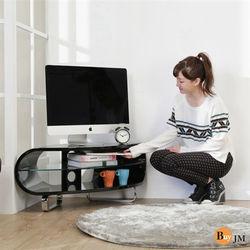 BuyJM 鏡面扇形鋼琴烤漆轉角電視櫃/102公分