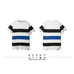 Harmonia Splice Stripes Tee - 異色拼接橫條Tee-行動