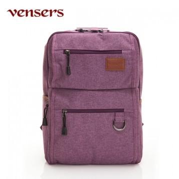 【vensers】 簡約丹寧牛仔後背包 (R00066102紫色)