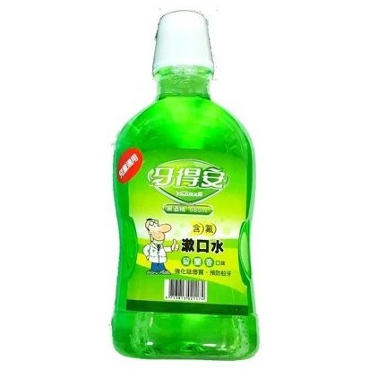 牙得安含氟漱口水 留蘭香口味(無酒精)-680ml+120ml 專品藥局 【2002636】