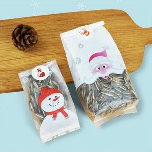果子烘培材料行~聖誕老人餅乾包装袋 西點曲奇零食袋 10入/件