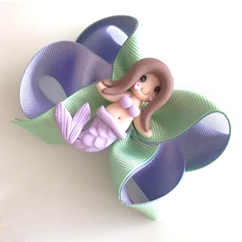 英國 MonkeyBow - 手工髮飾/髮夾-紫系美人魚-清新美人魚