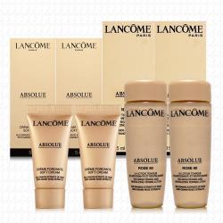LANCOME蘭蔻 絕對完美黃金玫瑰修護乳霜5mlx2+黃金玫瑰修護露15mlx2