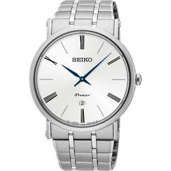 SEIKO 精工 Premier 系列超薄石英腕錶-銀/40mm 7N39-0CA0S(SKP391J1)