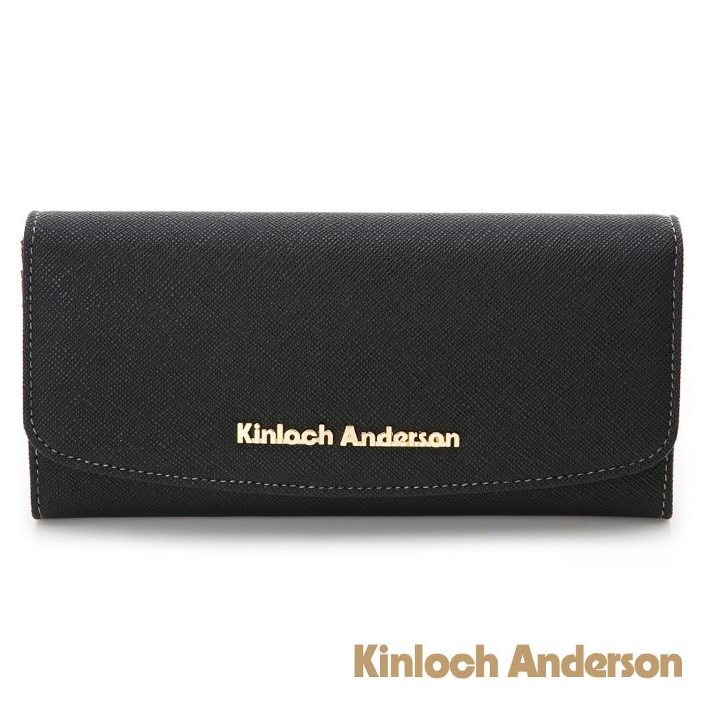金安德森 KATE 經典防刮翻蓋長夾-星空黑(KA176003BKF)
