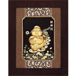【開運陶源】金箔畫 純金 *古典中國風系列*Q版【財神到】...27x34cm