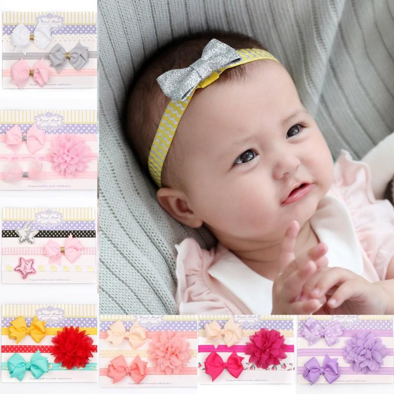 兒童發帶3件套蝴蝶結寶寶發飾套裝【IU貝嬰屋】