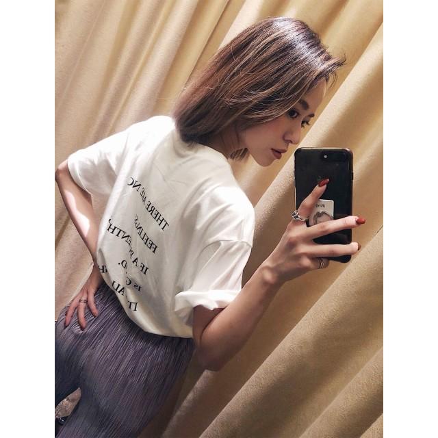 Tシャツ - MURUA バックプリントオーバーTシャツ