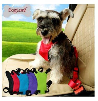 多樂米廠家狗狗汽車安全胸背兩用型 寵物狗安全帶 寵物胸背帶