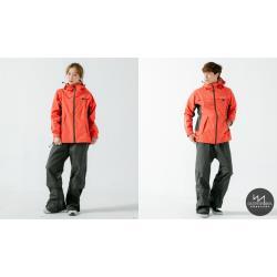 奧德蒙 G.T.多功能兩件式風雨衣-硃砂紅/黑