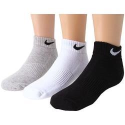 Nike 2018男女學童灰白黑色低切短襪混搭3件組