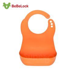 任-BeBeLock口袋型防水圍兜(橘)