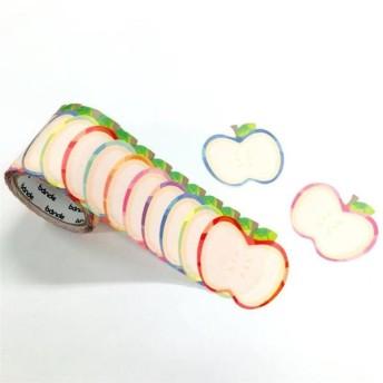 1枚ずつめくれる 書けるロールステッカー りんご