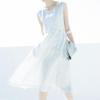 セール ファッション リベコ社 リネン シルバープリント フレアーワンピース レディース ワンピース PC2375