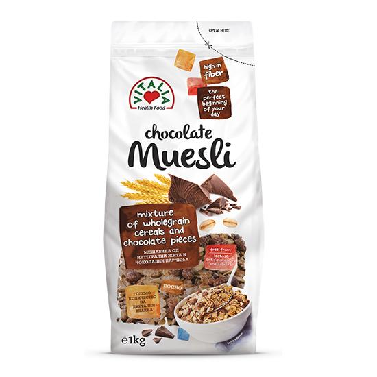 [馬其頓 Vitalia] 巧克力穀物麥片(1000g/包)