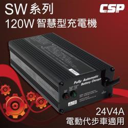 電動車充電器SW24V4A智慧型自動充電器(120W) 電動車.電動自行車.代步車 充電器