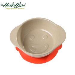 【美國Husk's ware】稻殼天然無毒環保兒童微笑餐碗-紅色