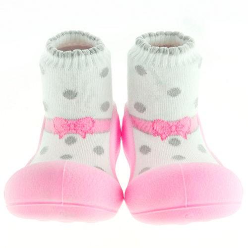 韓國 Attipas 快樂腳襪型學步鞋-芭蕾粉紅【麗兒采家】