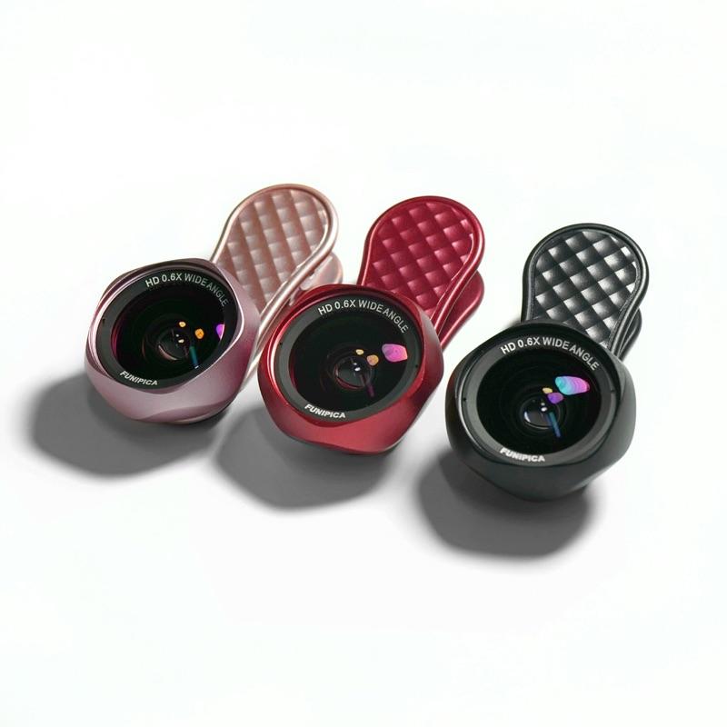 FUNIPICA F-520玫瑰花型 無變形 HD畫質廣角鏡頭 + 15X微距鏡頭