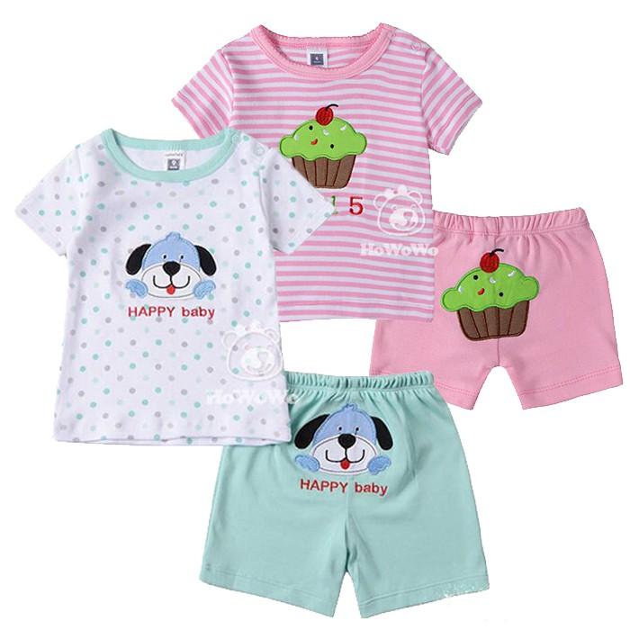 嬰幼兒短袖套裝 寶寶短袖上衣+短褲 baby套裝 LZ1732 好娃娃