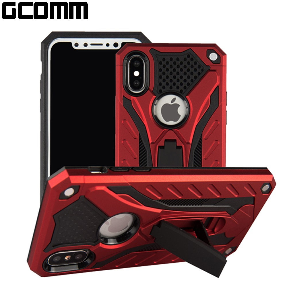 GCOMM iPhone XR 防摔盔甲保護殼 Soild Armour 紅盔甲