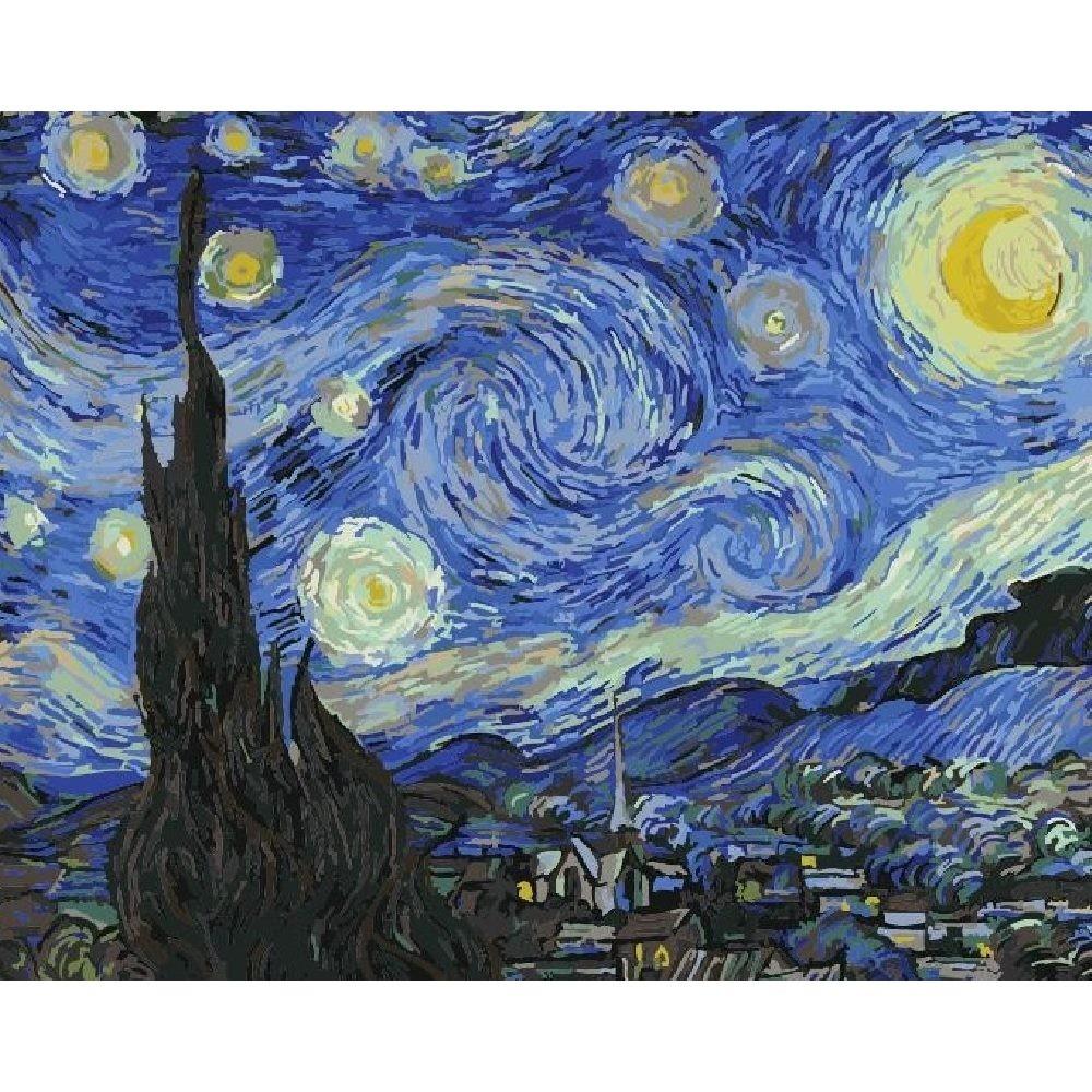 ArtLife 藝術生活 現貨 DIY 數字 油畫 彩繪 DT052梵谷 星空 40X50cm