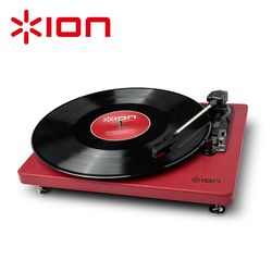 ION Audio Compact LP 摩登皮革黑膠唱機 - 經典黑