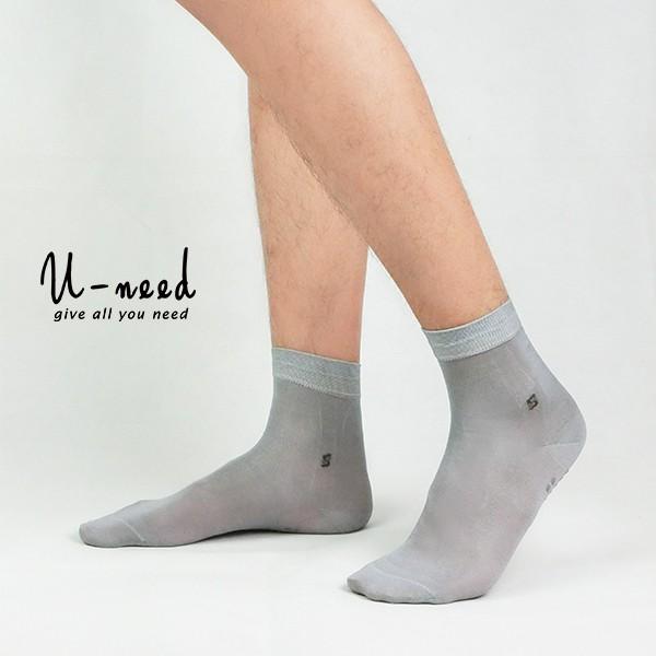 【Uneed】男款蠶絲襪 底部止滑顆粒 短襪 天然健康 透氣除臭抗菌