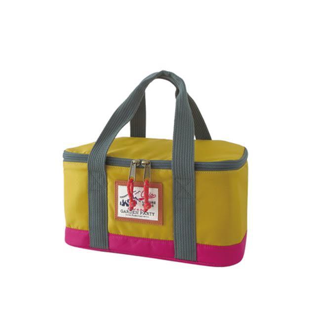 日本 BISQUE 戶外保溫保冷野餐袋-芥末黃