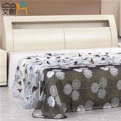 文創集 拜默斯 木紋5尺雙人床頭箱(二色可選)