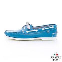 Travel Fox(男) NEW BLACK 馬卡龍彩色帆船 - 藍