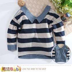 魔法Baby 男女童裝 兩面穿潮款長袖上衣 k60937