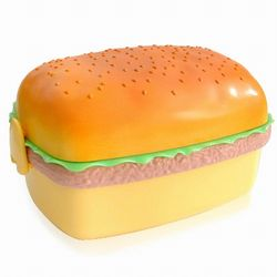 iSFun 美味漢堡造型三層便當盒