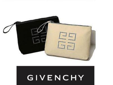 (兩色現貨)專櫃滿額禮- GIVENCHY 紀梵希 按壓 LOGO 拉鏈手拿包/手機包/ 錢夾/ 零錢包