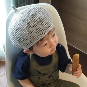 ぷっくり麦わらベレー帽(麦わら帽子)