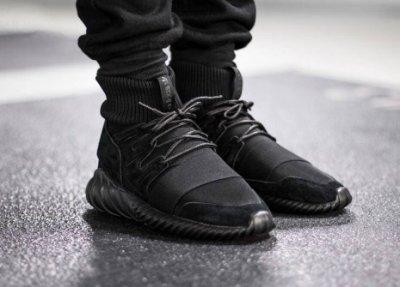 Adidas Originals Tubular Doom triple black S74794襪套麂皮全黑武士忍者鞋