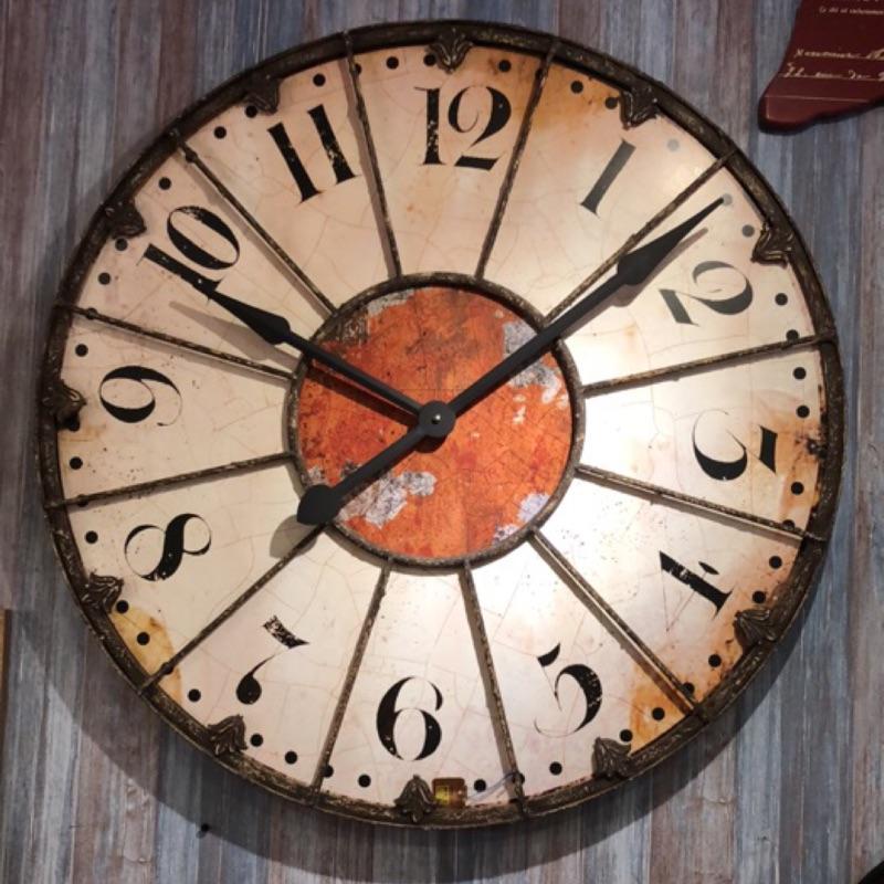 《齊洛瓦鄉村風雜貨園藝》美式仿舊復古鐵製大掛鐘 時鐘 壁掛鐘