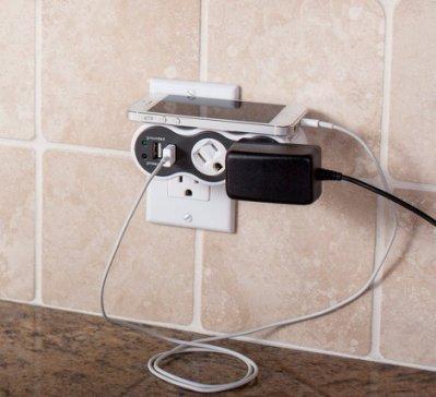 進階版: 918焦耳防突波※台北快貨※美國原裝 POWERcurve Mobile 360度旋轉插座+USB充電