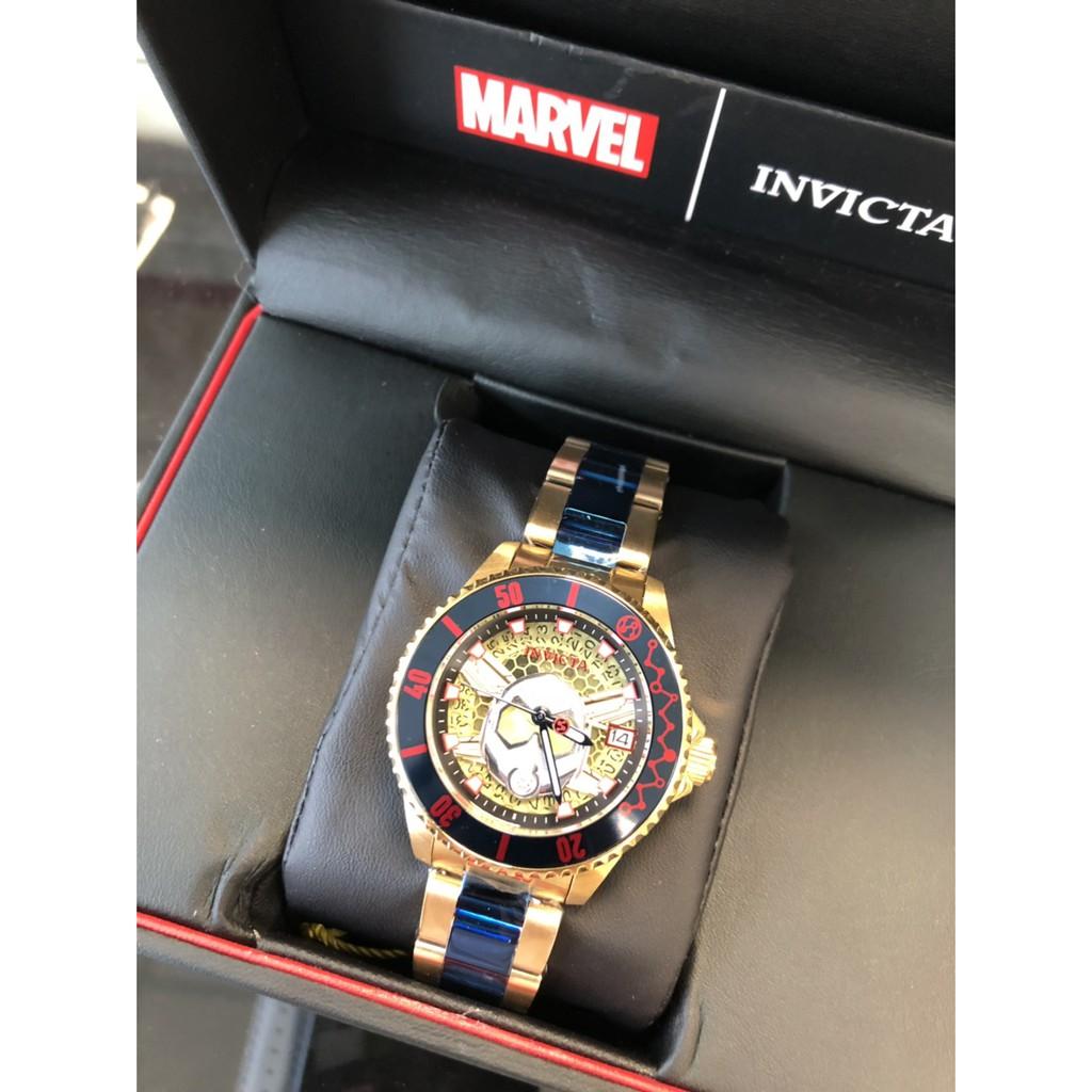 INVICTA x Marvel 限定黃蜂女不銹鋼腕錶-38mm