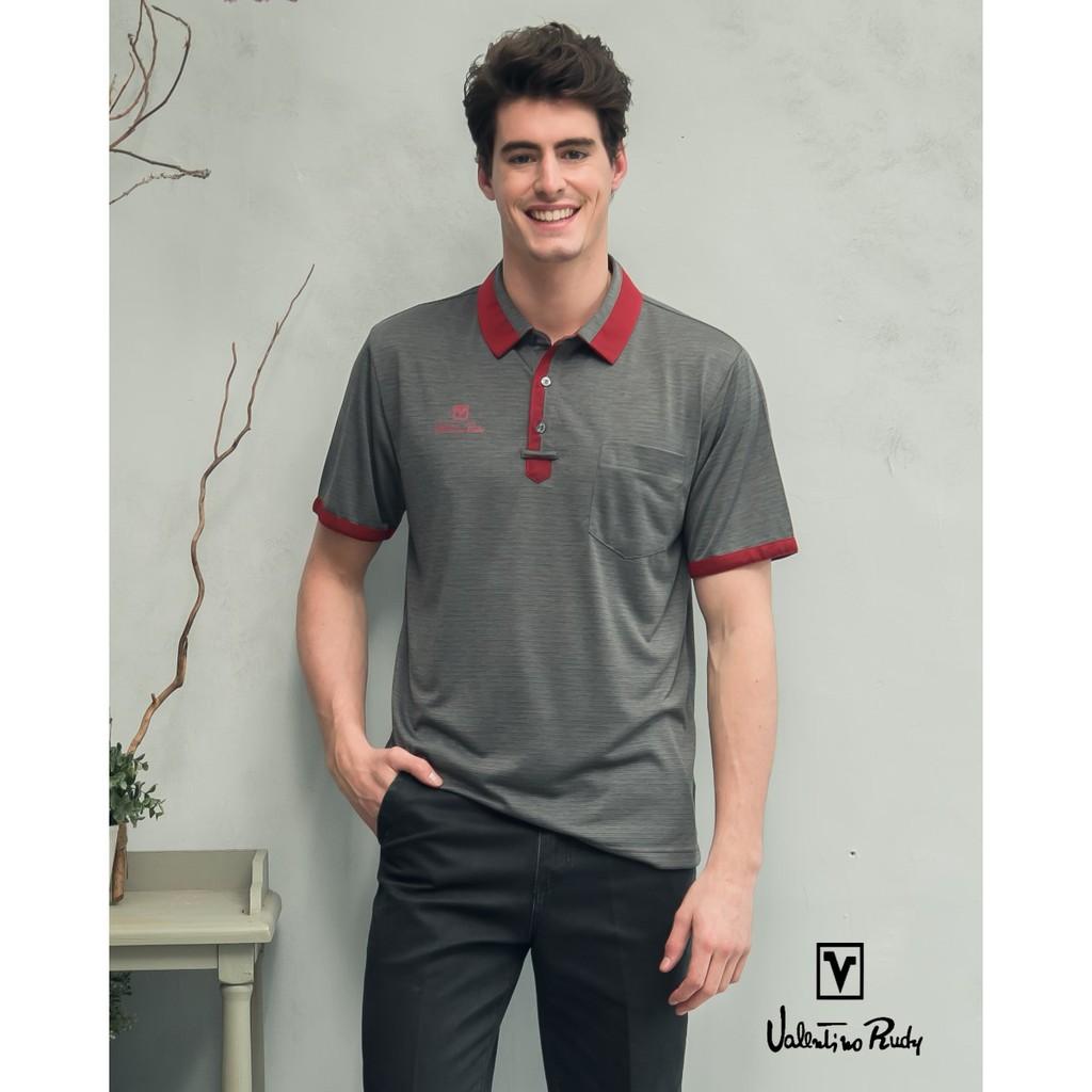 Valentino Rudy范倫鐵諾.路迪-吸濕透氣涼爽機能Polo衫-耀石灰紅領 V06A160-98
