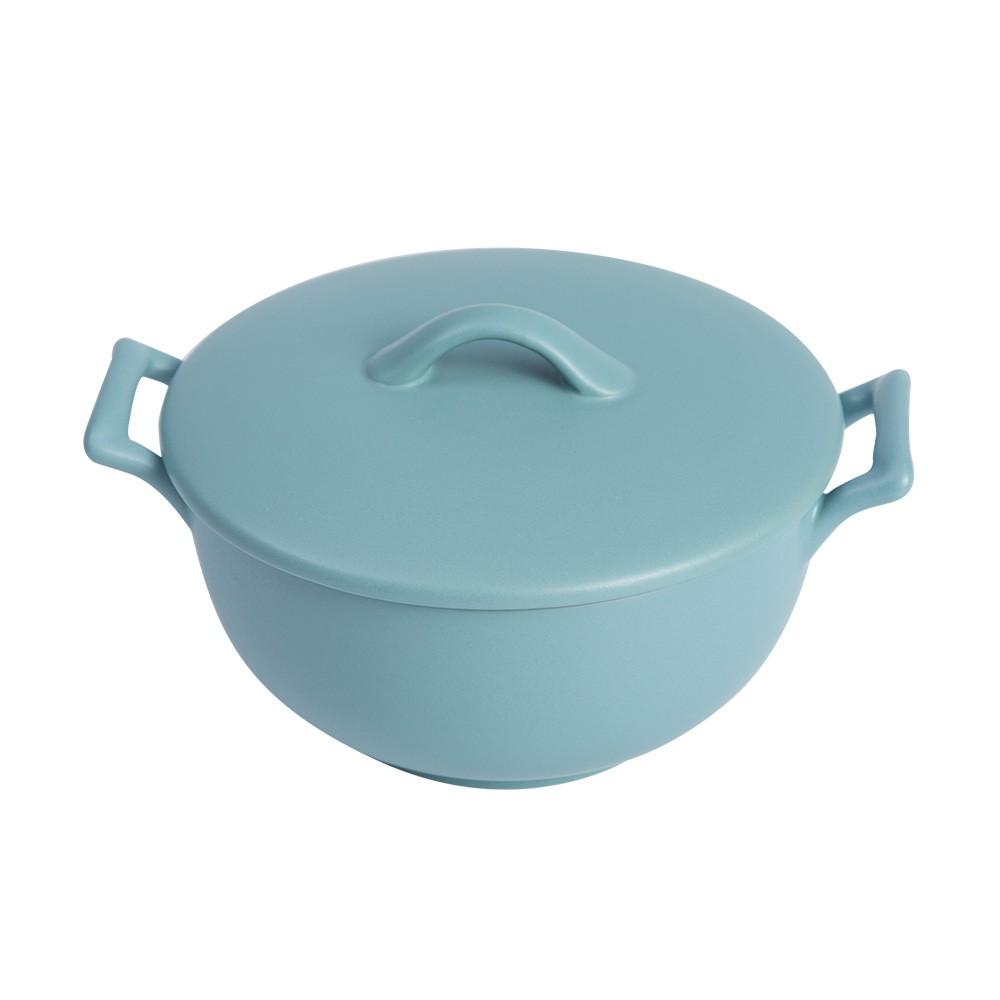 【現貨秒出】摩登主婦 日式磨砂系列雙耳碗 泡面碗帶蓋陶瓷湯碗拉面碗大容量沙拉