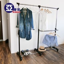 【Amos】高機能三腳加寬型伸縮衣架/曬衣架