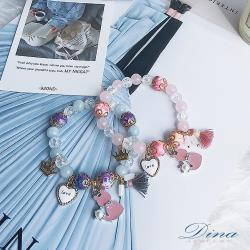 DINA JEWELRY蒂娜珠寶  浪漫小貓咪 造型串珠手鍊 (DD6502)