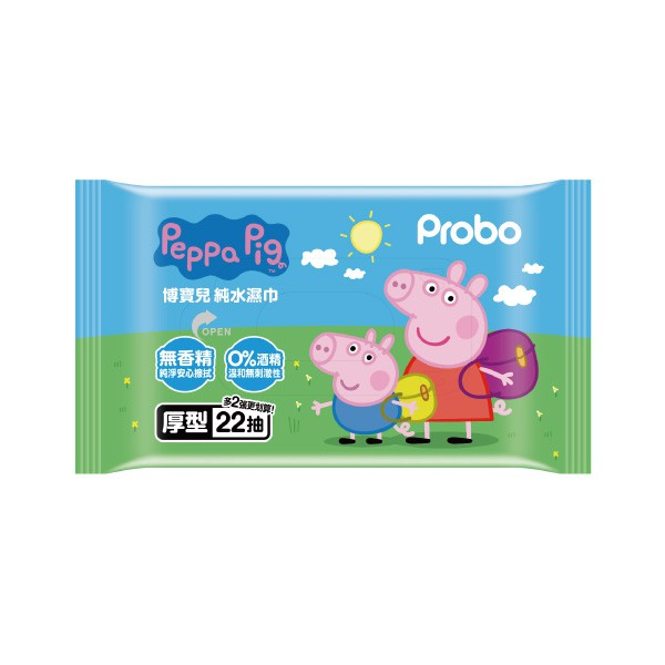 博寶兒純水濕巾厚型22抽-佩佩豬【康是美】