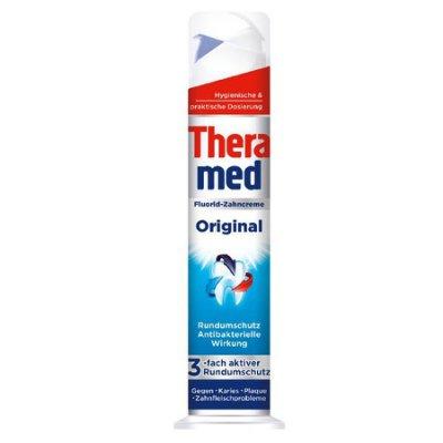 【Orz美妝】Theramed 德國 施華蔻 站立式牙膏 (防護抗菌) 按壓式 100ML